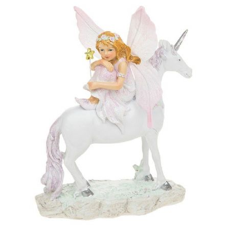 Fairyland Unicorn with Fairy sat on the Back